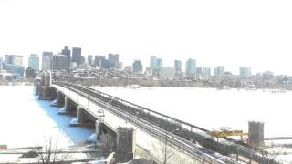 Full Day Time-Lapse Over Longfellow Bridge - Feb 27, 2015