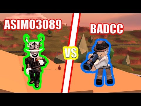 BADCC vs ASIMO3089 BATTLE!  Roblox Jailbreak