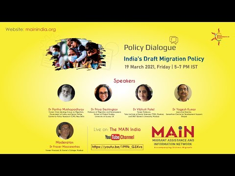 Policy Dialogue: India's Draft Migration Policy - Live on 19-03-2021