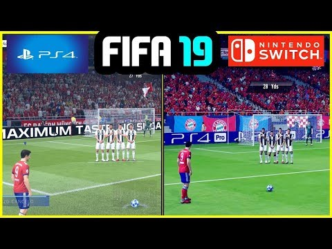 FIFA 19 - PS4 Vs Nintendo Switch Gameplay & Graphics Comparison