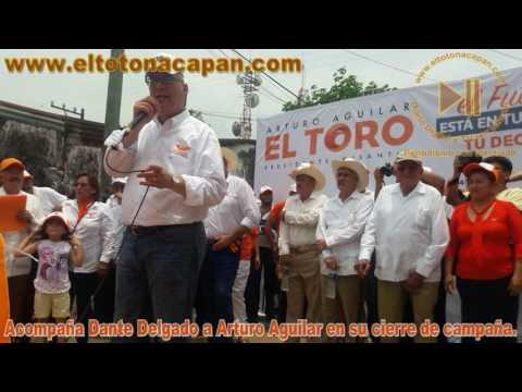 Acompaña Dante Delgado a Arturo Aguilar en su cierre de campaña