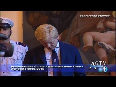 Presentazione Giunta Amministrazione Firetto 09-06-2015