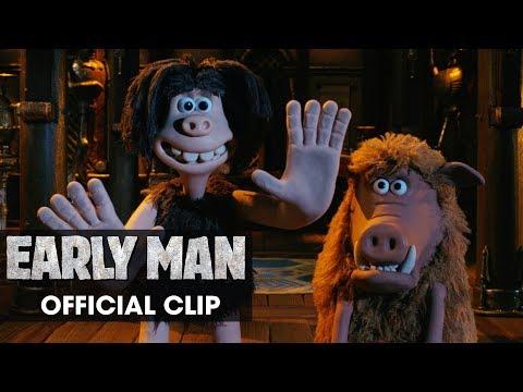 """Early Man (2018 Movie) Official Clip """"Stadium"""" - Eddie Redmayne, Tom Hiddleston, Maisie Williams"""