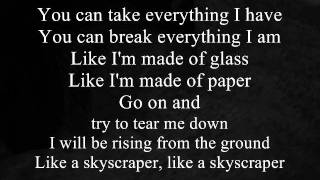 Skyscraper - Demi Lovato (Boyce Avenue & Megan Nicole acoustic cover) with Lyrics