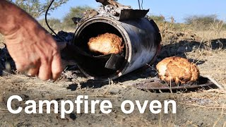 This video shows a simple camp oven I made from bits and peices found on a rubbish pile (a few paint cans, some pot lids and some wire)Music by Scott Holmes http://freemusicarchive.org/music/Scott_Holmes/Film__Documentary/Good_Feeling