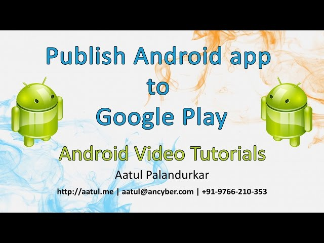 how to publish an app to google play