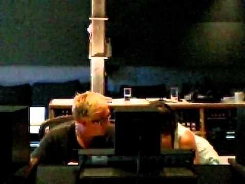 Michael Behm recording basic tracks to