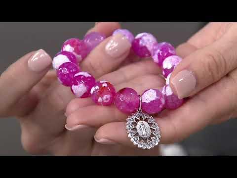Power Beads by jen Inspirational Charm Gemstone Bracelet on QVC