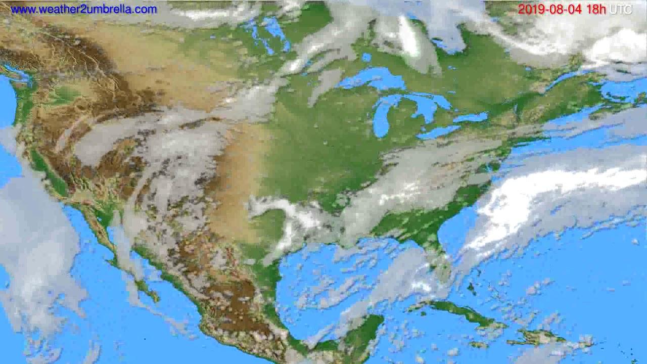 Cloud forecast USA & Canada // modelrun: 12h UTC 2019-08-02