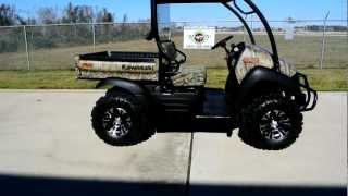 6. 2013 Kawasaki Mule 610 XC Camo 4X4 Utility Vehicle Loaded with Accessories!