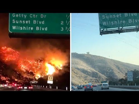 THE LA FIRES 24 HOURS LATER!