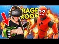 Insane Rocket Launcher In Rage Room Vr Rage Room Virtual Reality Htc Vive Funny Gameplay