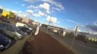 Augny France  City new picture : Premiers tours de roue sur la piste d'essai du magasin.