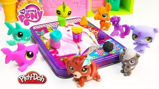 MLP Twilight Sparkle's Playdoh Art Class - My Little Pony LPS Students Shopkins Season 3 Video Play