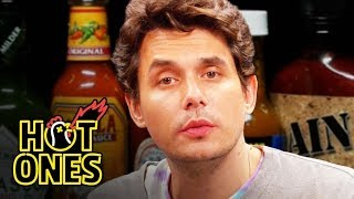 John Mayer Has a Sing-Off While Eating Spicy Wings | Hot Ones