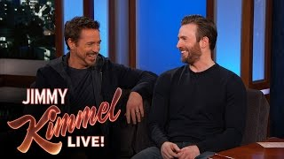 Chris Evans and Robert Downey Jr. Filmed in Hotlanta
