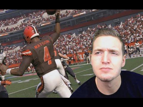WHAT IF THE BROWNS DRAFT DESHAUN WATSON? MADDEN NFL 17 (видео)