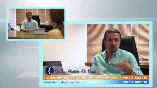 Op. Dr. Mustafa Ali Yanık burun estetiği ameliyatları hangi dönemlerde yapılmalıdır
