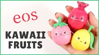 DIY eos Lip Balm | Kawaii Fruits eos | 2 Cats & 1 Doll ft. PolymomoTea - YouTube