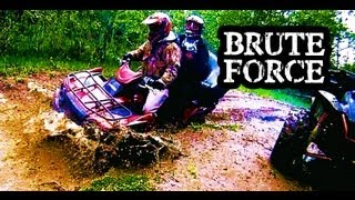 10. ATV 4x4 Mudding Kawasaki Brute Force 750 and 650 Quads