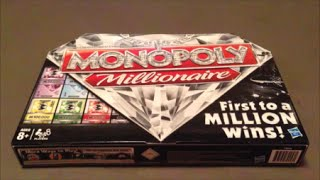 Monopoly Millionaire Board Game Unboxing