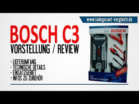 BOSCH C3 Ladegerät Test & Vorstellung - 6V / 12V Kleinlader für Motorrad und Pkw