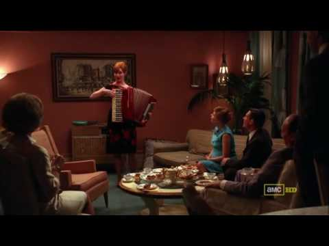 Joans - Episode 3.3: Joan entertains Greg's colleagues with her hidden talents. Ooh la la! www.amctv.com/originals/madmen.