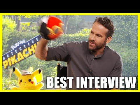 Ryan Reynolds Throws Pokéballs At Interviewer