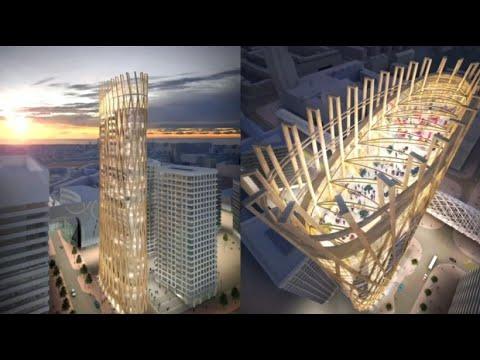 Klimaschutz mit Holz-Hochhäusern aus nachwachsendem Ma ...
