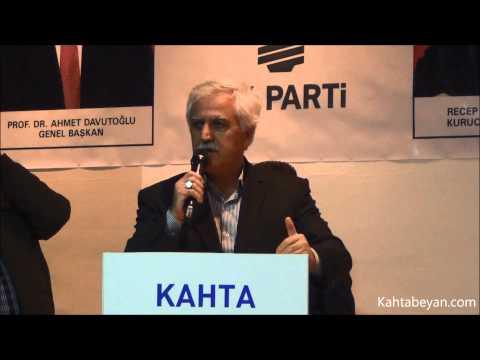 Ak Parti Kahta Gençlik Kolları Başkanlığı Kongresin Kahta Belediye Başkanı Abdurrahman Toprak'ın Konuşması