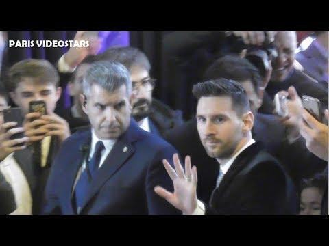 Video Lionel MESSI arriving at Ballon d'or awards Paris 2 december 2019 Winner best football player