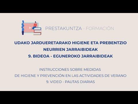 UDAKO JARDUERETARAKO HIGIENE ETA PREBENTZIO JARRAIBIDEAK - 9. Eguneroko Jarraibideak