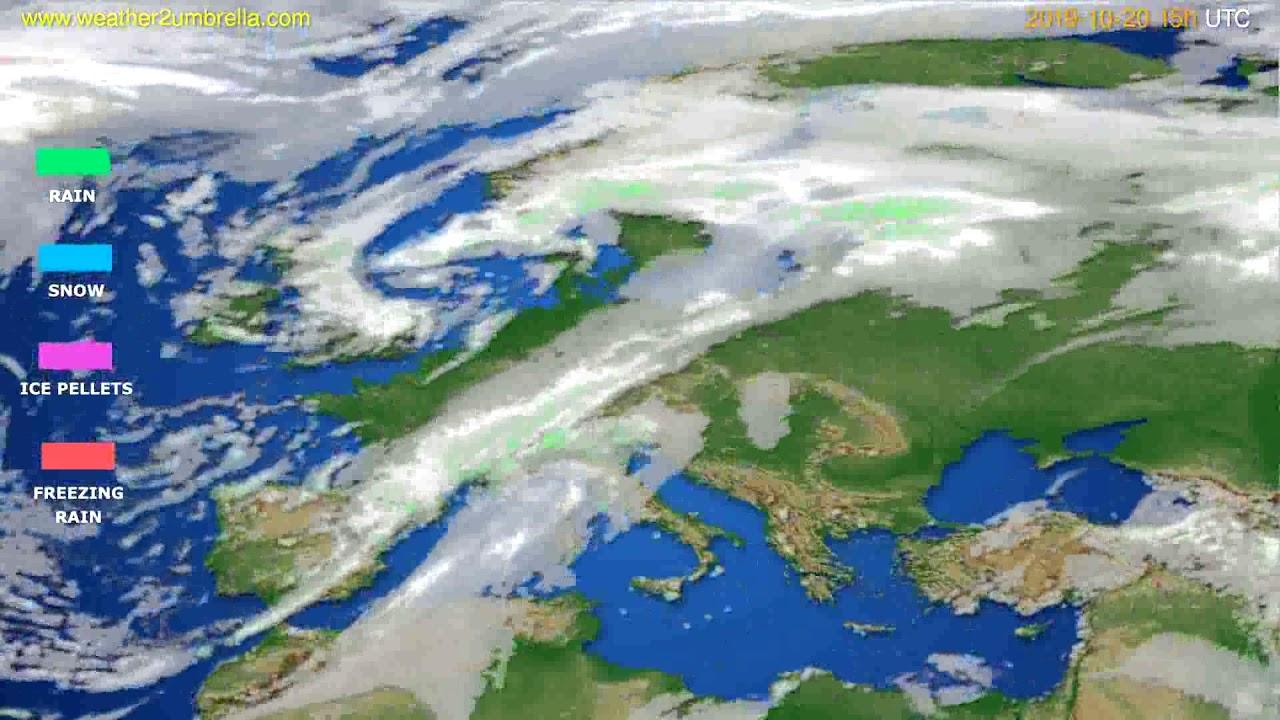 Precipitation forecast Europe // modelrun: 12h UTC 2019-10-17
