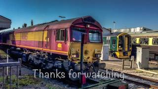 The Andover Fist Railtour Saturday 8th April 2017 at Salisbury Class 66 Top & Tail