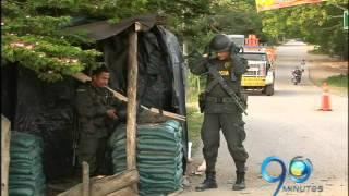 Durante hora y media guerrilleros de las Farc atacaron el puesto policial en Timba, Cauca. Las casas aledañas al cuartel...