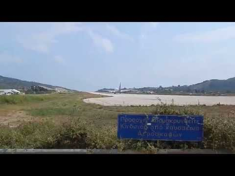 SAS Boeing 737-700 with winglets Landing at Skiathos airport