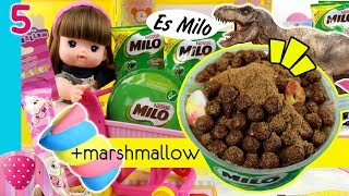 Video #5 Es Milo Dinosaurus dengan Sereal Milo Marshmallow Susu Ultra Mimi - Cooking Time GoDuplo TV MP3, 3GP, MP4, WEBM, AVI, FLV Juli 2019