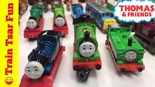 """UPDATE! Our Ertl Thomas and Friends Train Collection!Please SUBSCRIBE for more Train fun: http://bit.ly/1v93HUTLeave a comment BUT PLEASE NOTE: All spam will be deleted and blocked. Comments such as """"Great video - check out my channel"""" will result in ban Help support our channel by buying on Amazon: http://amzn.to/2aUvc1fLEGO on Amazon: http://amzn.to/2aEgHxVMy LEGO Channel: http://www.youtube.com/user/bricktsarMy Toys Channel: http://www.youtube.com/user/jolson37My Son: http://www.youtube.com/user/theymightbebricksMy daughter: http://www.youtube.com/user/sowhosthatgirlMrs. BrickTsar: http://www.youtube.com/user/seagrove697My Website: http://www.traintsarfun.comKid and family friendly videos about toy trains, real trains, and more!Thomas the Tank Engine, Chuggington, LEGO trains, and more fun! トーマス大好き We love Thomas!Instagram: http://www.instagram.com/traintsarfunFacebook: http://www.facebook.com/traintsarfunTwitter: http://www.twitter.com/traintsarfunPlease don't spam my channel with generic fake comments. If I reply """"Shaka when the walls fell"""" that means failure or defeat. Don't do a comment  fail. Toy channels are notorious for spamming each other with emoji filled fake praise. It's pointless, rude, selfish, foolish, and an outright fail of a practice - so don't do it!Royalty Free Music:Kevin MacLeod (incompetech.com)Licensed under Creative Commons: By Attribution 3.0http://creativecommons.org/licenses/by/3.0More fun video! Check these out:Thomas Gashapon Capsules (surprise eggs): http://bit.ly/2dYPCJaExcellent Emily: http://bit.ly/2dxVtFMThomas the Tank Engine Collection: http://bit.ly/2dXqn6uLEGO DUPLO Trains: http://bit.ly/2dABtPALEGO Trains: http://bit.ly/2dKbUNDWe hope kids and adults all over the world kind enjoy our videos. While I do speak English, most videos have scenes of trains and toys without talking. So in any language you can enjoy toys and trains here."""