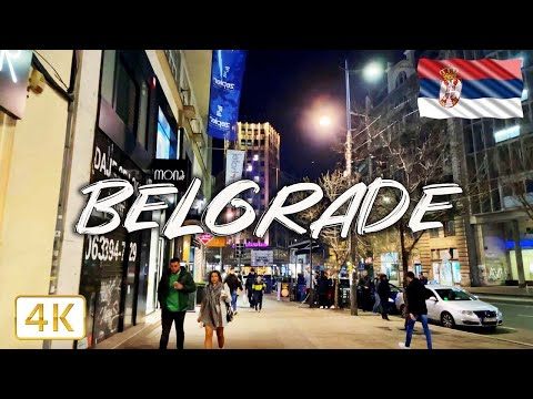 Beograd at night 🇷🇸 I Walking tour through Stari grad I 4K/60fps