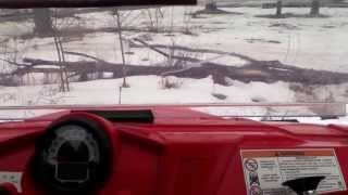 6. Driving the Polaris Razor 570 in the snow