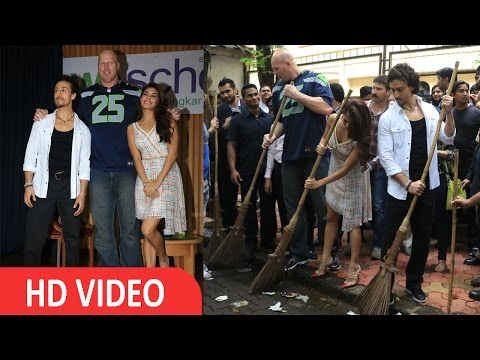 Tiger Shroff | Jacqueline Fernandez | Nathan Jones The Swachh Bharat Campaign I UNCUT