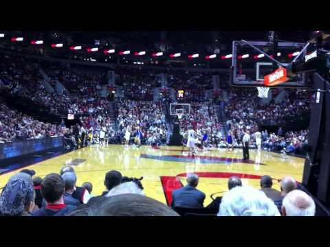 Trail Blazers' Rudy Fernandez 3 Pointer after Steal