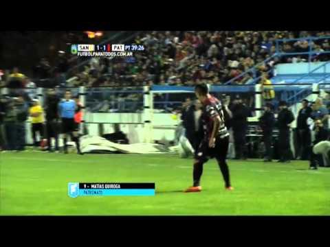 Gol de Quiroga. Santamarina 1 – Patronato 1. Final de Reducido. B Nacional 2015.