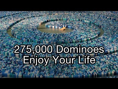 Guinness World Record - http://www.sinnersdominoentertainment.com Edited by http://www.dominoday111.com Motto: 'Enjoy Your Life - The Domino Record 2013' 277275 Dominoes / 272297 ...