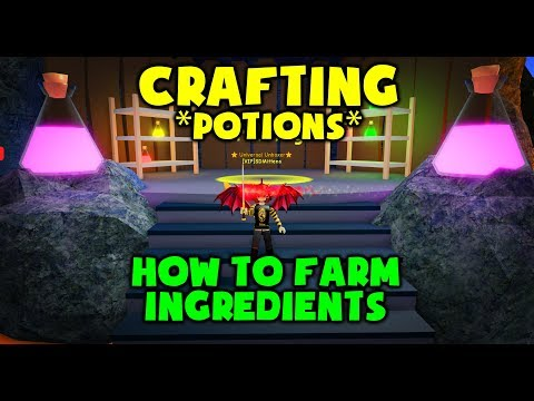 NEW CRAFTING! - POTIONS! - How To Farm Ingredients - Unboxing Simulator
