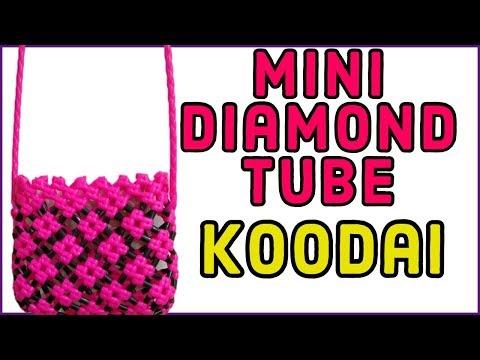 Tamil-Mini Diamond Tube Crosscut Koodai making for Kids Tutorial Mini Plastic wire basket tubes