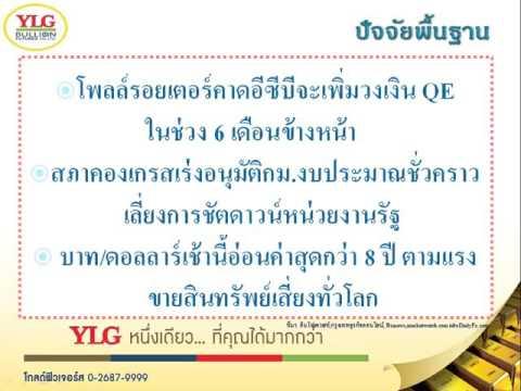 YLG บทวิเคราะห์ราคาทองคำประจำวัน 29-09-15