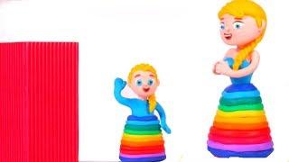 Video FROZEN ELSA NEW RAINBOW COLOR DRESS ❤ Superhero & Frozen Elsa Play Doh Cartoons For Kids MP3, 3GP, MP4, WEBM, AVI, FLV Oktober 2018