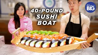 I Made A Giant 40-Pound Sushi Boat For A Mukbang Artist • Tasty by Tasty