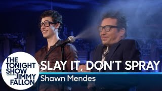 Video Slay It, Don't Spray It with Shawn Mendes MP3, 3GP, MP4, WEBM, AVI, FLV Januari 2019